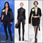 Kim Kardashian   In  Chalayan  &  Balenciaga – NBC UPFRONT 2017