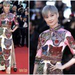Li Yuchun In Gucci At  'Okja' Cannes Film Festival Premiere