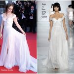 Lily Collins In Ralph & Russo Couture – 'Okja' Cannes Film Festival Premiere