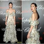 Liu Wen  In Alexander McQueen – Annabel's & Chopard Cannes 2017  Party