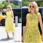 Naomi Watts In Lela Rose Doing Press In New York