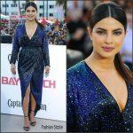 Priyanka Chopra In Vintage Halston  At 'Baywatch' World Premiere