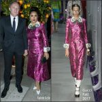 Salma Hayek In Gucci  At  Art Biennale Cini Party