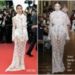 Sara Sampaio In Francesco Scognamiglio Couture – 'The Killing Of A Sacred Deer' Cannes Film Festival Premiere