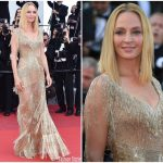 Uma Thurman In Atelier Versace – 2017 Cannes Film Festival Closing Ceremony