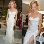 Uma Thurman  In Atelier Versace – Fashion For Relief  Cannes  Fashion Show