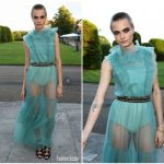 Cara Delevingne In Burberry  At  Save The Elephants Dinner