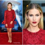 Claire Holt In ML Monique Lhuillier  At '47 Meters Down' LA Premiere