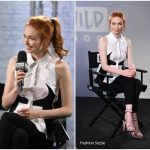 Eleanor Tomlinson In Antonio Berardi – AOL Build  Series LDN