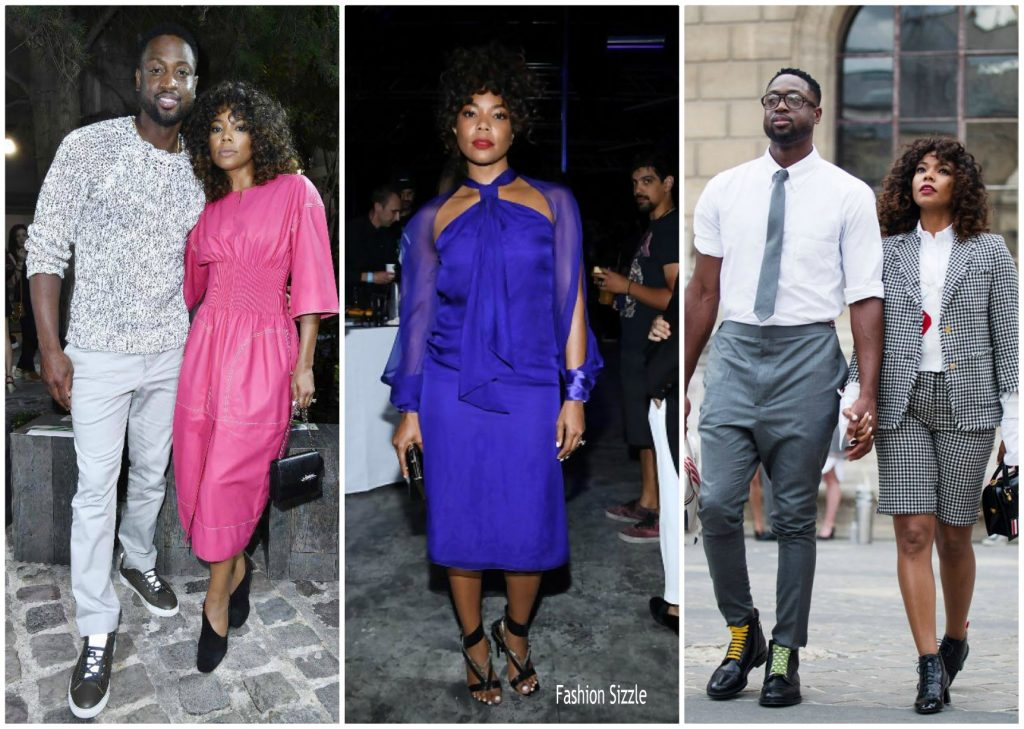 gabrielle-union-dwayne-wade-paris-fashionweek-spring-2018-menswear-1024×729