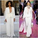 Gabrielle Union  In Elie Saab   – Spring 2018 Paris Fashion Week Menswear