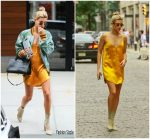 Hailey Baldwin In   Gucci – Out In  New York