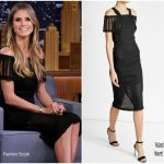 Heidi Klum In Roland Mouret – The Tonight Show Starring Jimmy Fallon