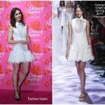 Lily Collins In Georges Chakra Couture – Lancôme 'Declaring Happiness' Exhibition