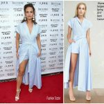 Lily James In Ulyana Sergeenko Demi-Couture – DuJour's Summer Issue Cover Party