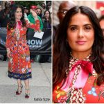 Salma Hayek In Gucci -The Daily Show with Trevor Noah