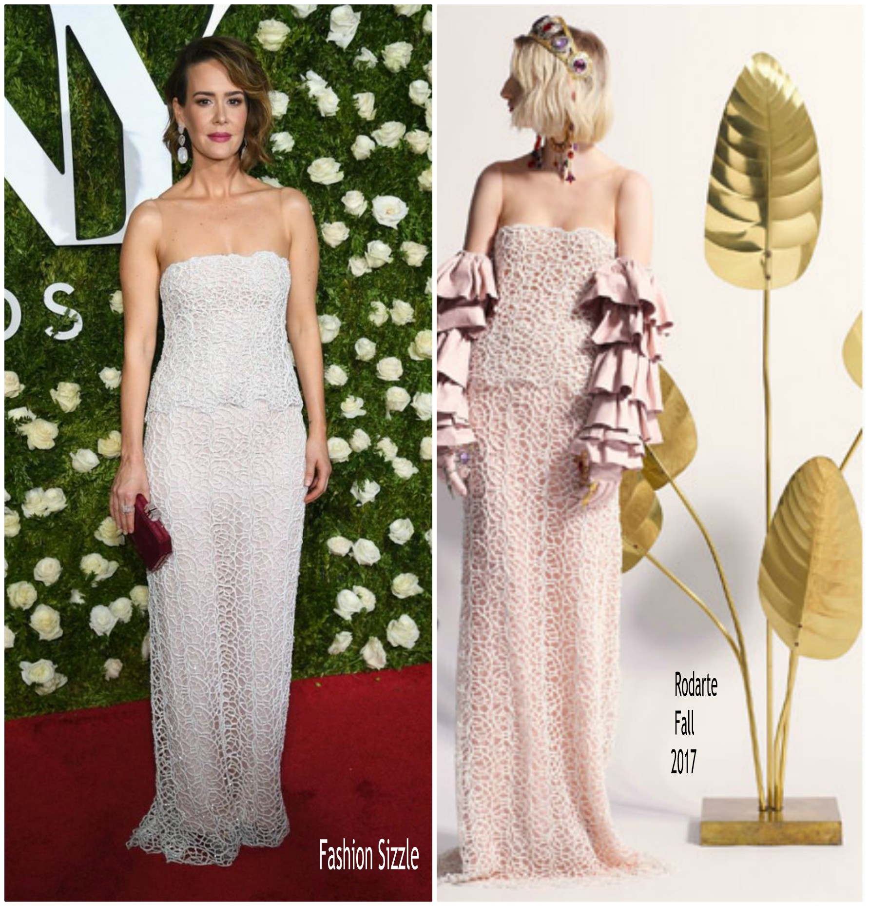 Sarah Paulson In Rodarte At 2017 Tony Awards - FASHION SIZZLE