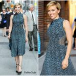 Scarlett Johansson In Proenza Schouler  At The Late Show with Stephen Colbert