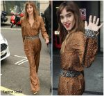 Sofia Boutella In Belstaff  At BBC Radio 2 Studios