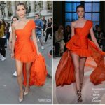 Bella Hadid In Giambattista Valli Couture At Vogue Paris Foundation Dinner