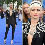 Cara Delevingne In Burberry  At 'Valerian and The City of a Thousand Planets' London Premiere