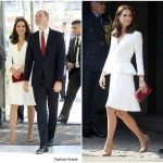 Catherine, Duchess of Cambridge In Alexander McQueen  – Poland Official Visit