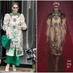 Celine Dion In Gucci Out In Paris