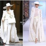 Celine Dion  In  Ralph & Russo Couture – Out In Paris