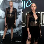 Charlize Theron In Christian Dior –  'Atomic Blonde' LA Premiere