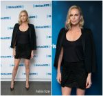 Charlize Theron In Saint Laurent & L'Agence – SiriusXM In New York