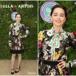 Emilia Clarke  In  Dolce & Gabbana –  Wimbledon  Championships In  England