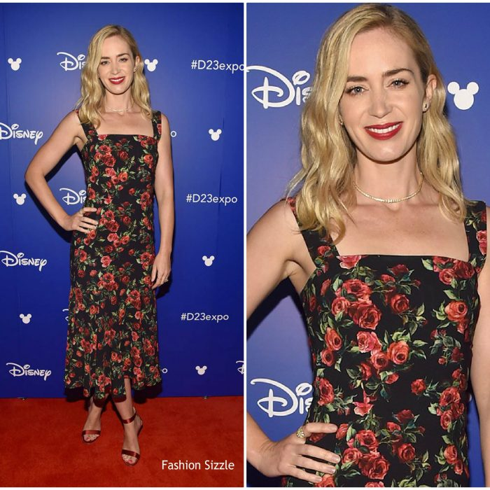 emily-blunt-in-dolce-gabbana-disney-d23-expo-in-california-700×700