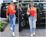 Kendall Jenner & Bella Hadid In  Bec + Bridge  – Out In  New York City