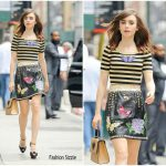 Lily Collins  In  Dolce & Gabbana – Out In New York