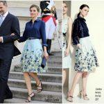 Queen Letizia of Spain  In  Carolina Herrera to Westminster Abbey