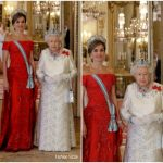 Queen Letizia of Spain  In Loewe – State Banquet at Buckingham Palace
