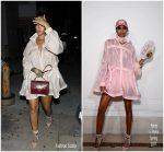 Rihanna  in Fenty x Puma   For Dinner At  Giorgio Baldi