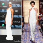 Sasha Luss in Brandon Maxwell – 'Valerian and the City of a Thousand Planets' LA Premiere