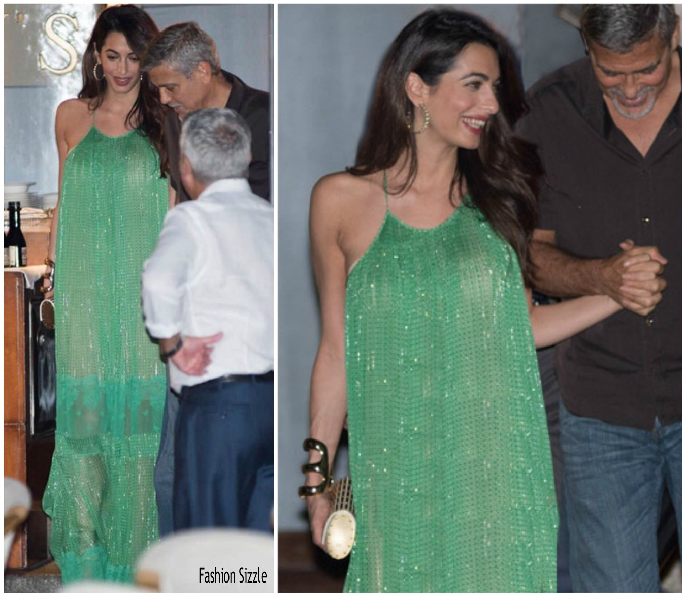 Amal Clooney In Stella McCartney gown in Italy - Fashionsizzle