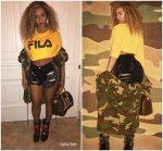 Beyonce Knowles  In  Mistress Rocks  & Fila to Kendrick Lamar's concert