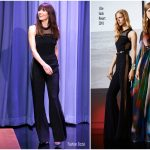 Jessica Biel In Elie Saab – The Tonight Show Starring Jimmy Fallon