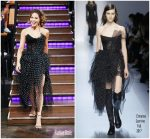 Kate Beckinsale In Ermanno Scervino – The Late Late Show with James Corden