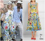 Madonna in Dolce & Gabbana  – Celebrates Birthday In Italy