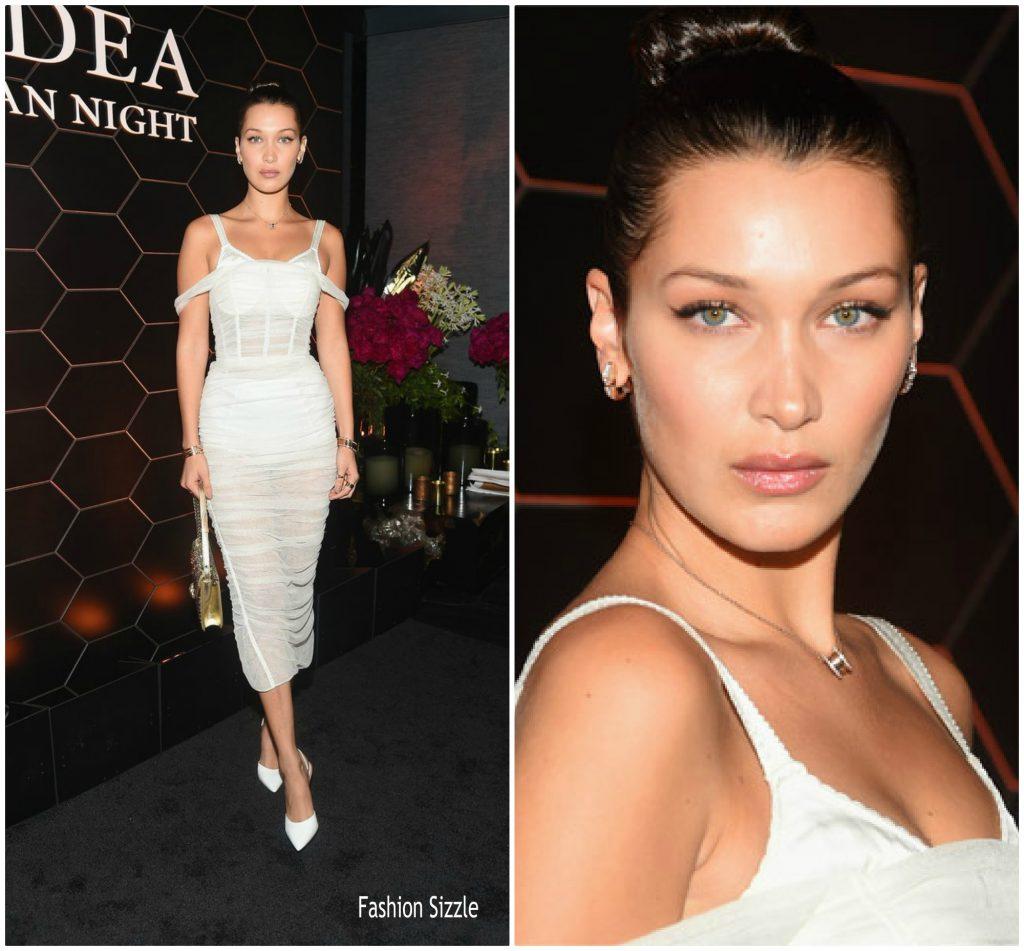 Bella-Hadid-In-Dolce-Gabbana-Bulgari-Celebrates-Launch-Of-New-Fragrance-Goldea-The-Roman-Night-1024×951