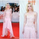 Elle Fanning In Alexander McQueen – 'Mary Shelley' Toronto Film Festival Premiere