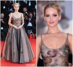 Jennifer Lawrence In Christian Dior Couture – 'Mother!' Venice Film Festival Premiere