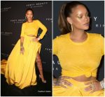 Rihanna In Oscar de la Renta – Fenty Beauty by Rihanna Launch
