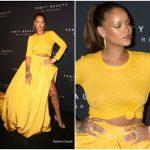 Rihanna In Oscar de la Renta – Fenty Beauty by Rihanna Launch