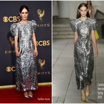 sarah-paulson-in-carolina-herrera-2017-emmy-awards