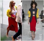 Beyonce Knowles  In Calvin Klein – Out In New York